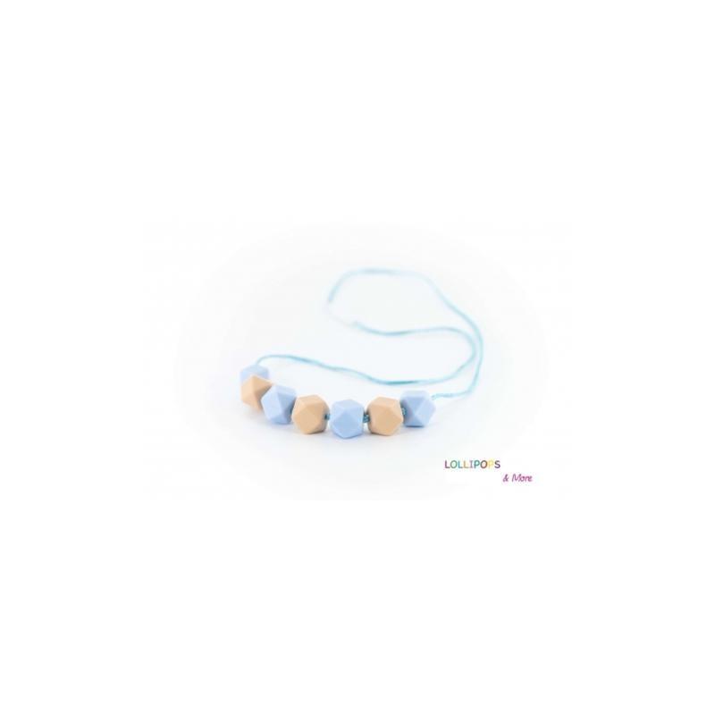 Colar Kola Cubes Pastel Blue/Oatmeal - Lollipops